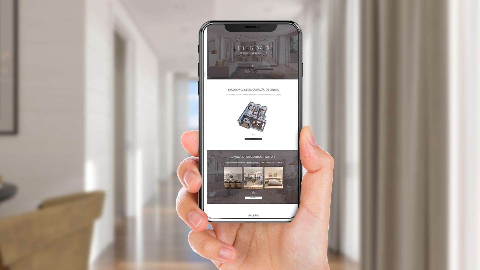 Coporgest - Liberdade Premium Apartments - Website Mobile